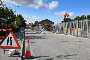 Work has started on Station Approach