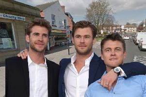 Liam, Chris and Luke Hemsworth as they might appear in Hemsworth, according to the H&SE's new campaign. (Getty Images)