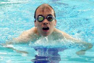 Oliver Peace, who won two titles at the British Learning Disabilities Swimming Championships,