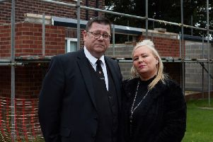 Phil Normington, with his wife Ingrid at their home in Havercroft