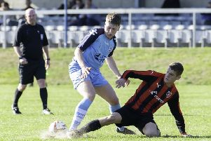 Hemsworth MW's new signing, Red Bates, in action for previous club Liversedge.