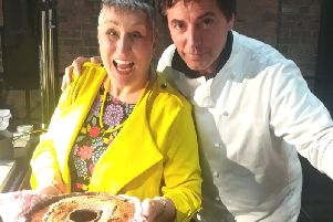 Karen with Jean-Christophe Novelli
