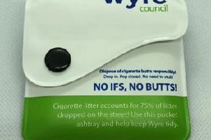 Wyre Council hopes that the pocket ashtrays will reduce the amount of cigarette butts being littered.