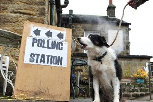 People have been voting throughout the day at polling stations up and down the country. Picture: Gerard Binks