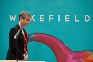 MP Yvette Cooper at the election count in Wakefield. Pic: John Clifton