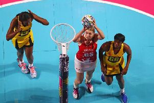 Eleanor Cardwell's accurate shooting was a feature of England's Vitality Nations Cup victory