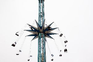 The 220ft high ride Star Flyer carousel is back in Sheffield.