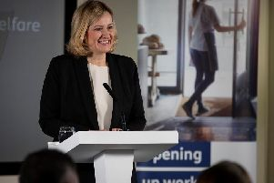 Support for claimants - Secretary of State for Work and Pensions Amber Rudd who has chosen Harrogate for the next phase of the controversial Universal Credit system.