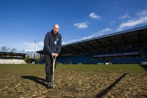 MBI Shay Stadium Head groundsman Graham Osbourne.