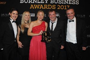 Winners of the Employer of the Year Award at the Burnley Business Awards in 2017 - VEKA