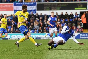 Mateusz Klich scored the first equaliser for Leeds United at Ipswich. Picture: Jonathan Gawthorpe