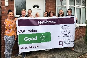 Staff at the care home are celebrating after the CQC upgraded its assessment of the home