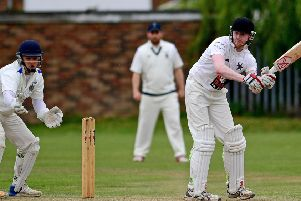 Ackworth batsman Kieren Dinnage, who made 79 against Old Sharlston. Picture: Paul Butterfield