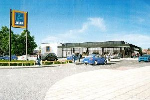 Artist's impression of South Elmsall's new Aldi store.