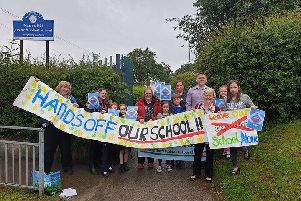 Parents have campaigned tirelessly against the proposed academisation since it was first mooted at the end of last year. Picture by Lee Ward.