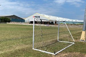 The goal posts were damaged by vandals