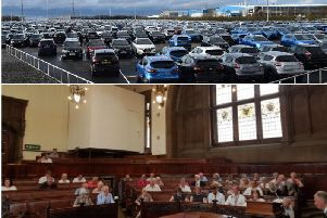 Councillors argued briefly about car choices at a meeting on Wednesday.