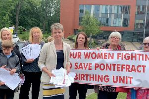 MP Yvette Cooper presented a petition with over 1,000 signatures to the trust last week. She's campaigning for Friarwood Birth Centre to stay open.