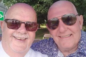 Featherstone mayor Steve Vickers and councillor Graham Isherwood had their heads shaved earlier this month.