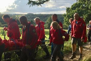Scarborough and Ryedale Mountain rescue team conducting the rescue.