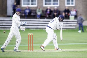 Streethouse's Kevin Marshall batting against South Kirkby. Picture: Allan McKenzie