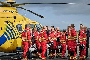 Some of the North West air ambulance team