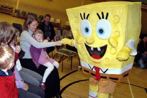 Hucknall Leisure Centre hosts dozens of activities and events, including this visit by Spongebob Squarepants to a children's party.
