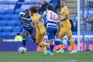 Ben Pearson in action for Preston against Reading