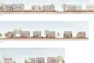 An artist's impression of the houses