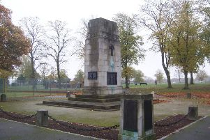 The cenotaph at Titchfield Park, which will again host Hucknall's Remembrance Sunday service this weekend.