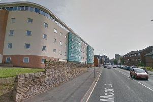 The crash happened in Moor Lane, near the student accommodation, at around 6.50am. Pic: Google Street View