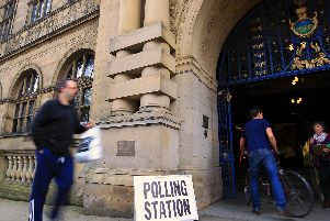 Polling Station, Sheffield Town Hall - June 8th General Election 2017.