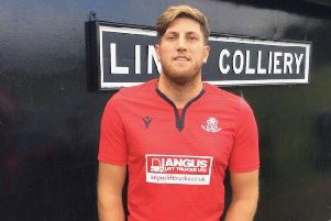 Danny Tring was man of the match for Linby.