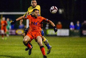 Courey Grantham levelled for Basford United.