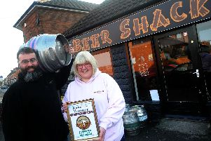 The award-winning Beer Shack, which was the first micropub to open in Hucknall and one of the first in the country.