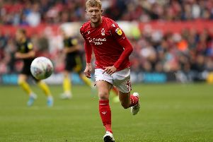 Defender Joe Worrall of Nottingham Forest. Photo by Paul Harding/Getty Images.