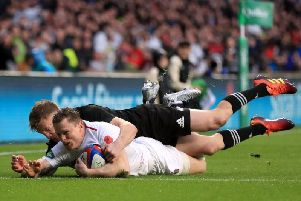 Chris Ashton scored a try against New Zealand this month