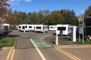 Travellers at Chesterfield's Queen's Park North car park last year.