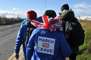 File picture: The alleged assault took place at the March to Leave protest in Sunderland
