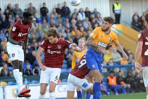 Action from Mansfield's win over Northampton earlier in the season.
