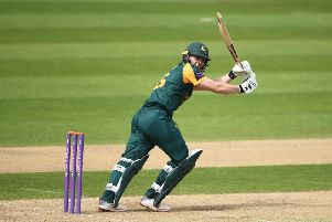 BIRMINGHAM, ENGLAND - APRIL 23: Ben Slater of Nottingham batting during the Royal London One Day Cup match between Warwickshire and Nottinghamshire at Edgbaston on April 23, 2019 in Birmingham, England. (Photo by Nathan Stirk/Getty Images)
