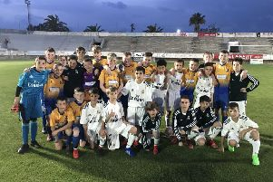 Mansfield Town and Real Madrid youngsters at their semi-final.
