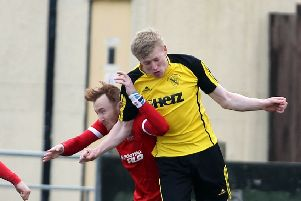 Hucknall Town's Dave Leak in action.