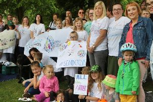 Special education needs campaigners at their protest picnic in Matlock