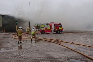 Fire crews at the scene (Photo: Lancashire Fire and Rescue Service).