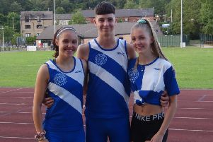 Spenborough AC members Natalie Groves, Bayleigh Lawton and Olivia Reah represented West Yirkshire at the National School Championships.