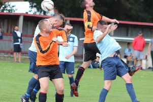 Sunday Alliance premier division action between Highfield Social and New Albert Picture: KAREN TEBBUTT