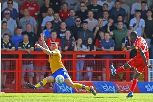 Bez Lubala hit the winner as Mansfield Town were beaten 1-0.