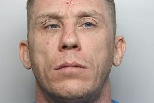 Pictured is Simon Papp, 36, of Tilbury Rise, Nottingham, who has been jailed for 14 months after he admitted driving while disqualified, driving without insurance and driving dangerously in Shirebrook.