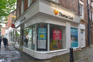 The former Thomas Cook branch on Low Pavement in Chesterfield town centre.